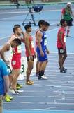 100m athletes Stock Image