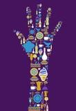 mänsklig symbolsset för gourmet- hand royaltyfri illustrationer