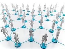 mänskligt nätverk Fotografering för Bildbyråer