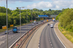 M-Autobahn nahe West Bromwich, Birmingham, Großbritannien stockbild
