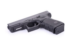 9 m automático pistola do revólver de m isolada no branco Imagem de Stock Royalty Free