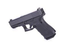 9 m automático pistola do revólver de m isolada no branco Foto de Stock