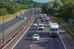 M autosnelweg dichtbij West Bromwich, Birmingham, het UK stock fotografie