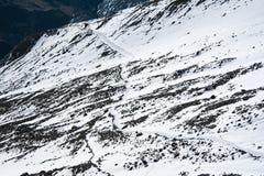 5500 m below sea level. Thrilling mountain in Nepal, Himalaya Stock Images