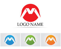 M beschriftet Logo- und Symbolikonen Stockbilder