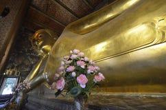 46m Buddha adagiantesi lungo Immagini Stock Libere da Diritti