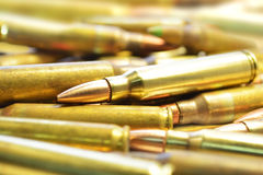 M16 Bullets. A pile of m16 bullets Royalty Free Stock Image