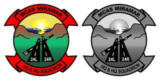 M c a s M i r a m a r Logo - Show bird and Tactical Gray stock illustration