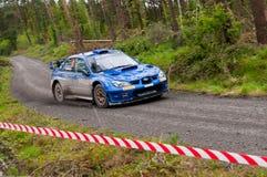 M. Cairns driving Subaru Impreza Stock Image