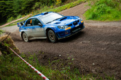 M. Cairns driving Subaru Impreza Royalty Free Stock Photos