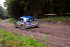 M. Cairns driving Subaru Impreza Stock Images