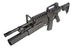 M4A1 carbine equipped with an M203 grenade launcher Royalty Free Stock Images