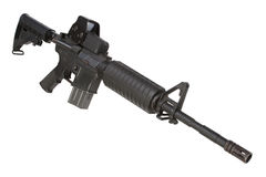 M4 carbine isolated Royalty Free Stock Photo