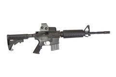 M4 carbine with optical gunsight Stock Photos