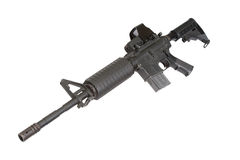 M4A1 carbine with optical gunsight Royalty Free Stock Photo