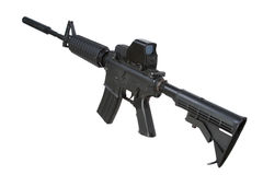 M4 carbine with silencer Royalty Free Stock Image