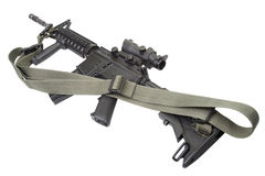 M4 carbine with silencer Royalty Free Stock Images
