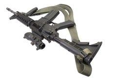 M4 carbine with silencer Stock Photos