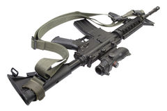 M4 carbine with silencer Stock Images