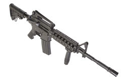M4 carbine with silencer Stock Photo