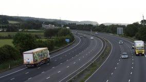 M5 cerca de Bristol, Inglaterra Con poco tráfico metrajes