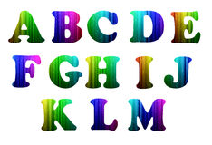 A-M colorful computer alphabet. On white background Vector Illustration
