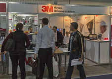 3M company booth at CEE 2015, the largest electronics trade show in Ukraine Stock Images