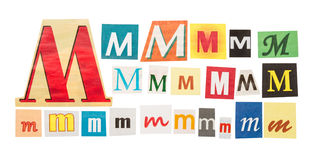 M cut out letter Stock Photo