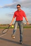 mężczyzna tenis obraz royalty free