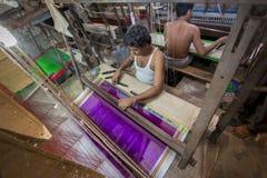 M.D. Joshim 30 jaar een arbeider van Benarashi Palli Stock Fotografie