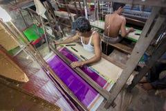 M.D. Joshim 30 jaar een arbeider van Benarashi Palli Royalty-vrije Stock Afbeeldingen
