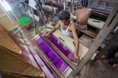 M.D. Joshim 30 jaar een arbeider van Benarashi Palli Royalty-vrije Stock Afbeelding