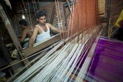 M.D. Joshim 30 jaar een arbeider van Benarashi Palli Royalty-vrije Stock Foto