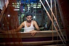 M.D. Joshim 30 jaar een arbeider van Benarashi Palli Royalty-vrije Stock Fotografie