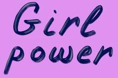 M?dchen-Energie Feminismuszitat, Frauenmotivslogan Feministisches Sprechen lizenzfreie abbildung