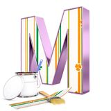 `M` decorated letter with renovation tools Royalty Free Stock Photos