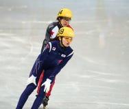 1000 m des dames chauffent la voie courte chauffent Photos libres de droits