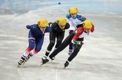 1000 m des dames chauffent la voie courte chauffent Photo libre de droits