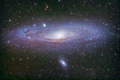 M31, die grean Andromedae-Galaxie Stockbilder