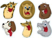 Ímã do refrigerador da face/etiquetas de sorriso (animais) #3 Foto de Stock Royalty Free
