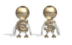 M. dollar et euro Images libres de droits