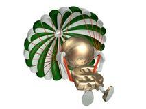 M. dollar saute avec un parachute Image stock