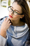 Mądrze dziewczyna portret Obraz Stock