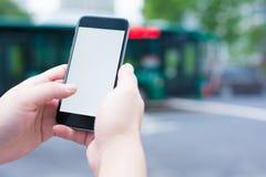 Mądrze miasto transport i telefon Obrazy Stock