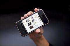 Mądrze telefonu Amazon pokaz Fotografia Royalty Free