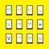 Mądrze telefonu emojicon Obraz Stock