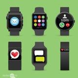 Mądrze zegarków Akcyjna Wektorowa ilustracja Fotografia Stock