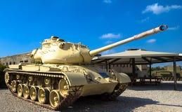 M47 E1/E2 Patton Główny Batalistyczny zbiornik Latrun, Izrael Zdjęcia Royalty Free