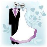 M. en Mevr. Bride en Bruidegom Royalty-vrije Stock Afbeeldingen