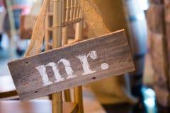 M. en Mevr. Sign van het huwelijksdecor royalty-vrije stock foto's